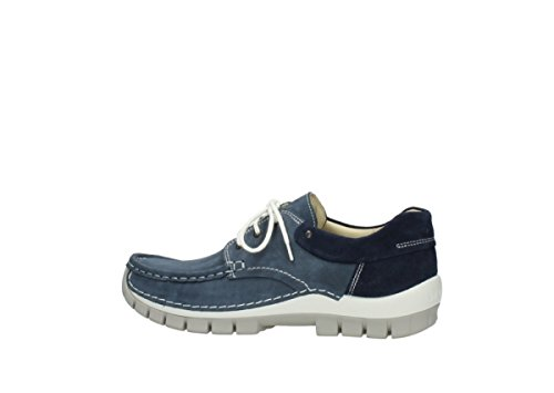 Fly Wolky 10820 Denim Blue shoes up Nubuck Lace 4701 6nWB67q
