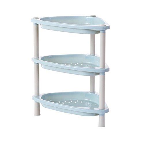 Price comparison product image CSSD Rack Organizer Kitchen Pantry Sink Bathroom Plastic Shelving Unit Storage Rack Home Decor (A)