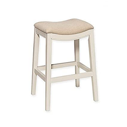 Admirable Amazon Com Kenton 26 Inch Backless Counter Stool In White Bralicious Painted Fabric Chair Ideas Braliciousco
