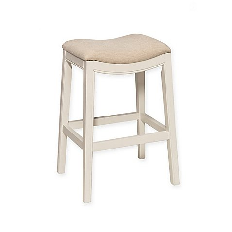 Amazon Com Kenton 26 Inch Backless Counter Stool In White Kitchen