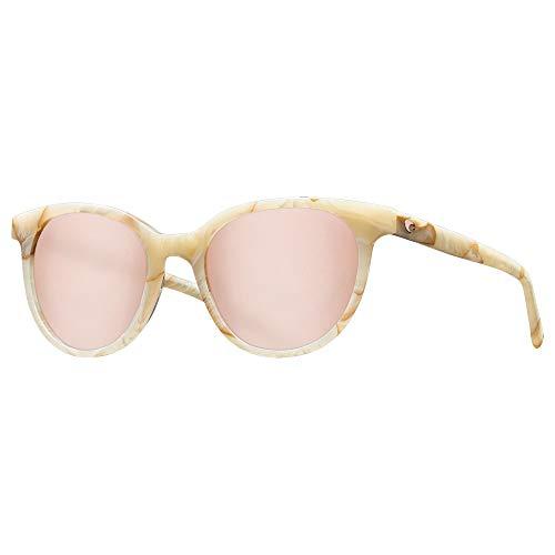 Costa Isla 580G Polarized Sunglasses - Women's Shiny Seashell/Copper Silver Mirror 580G, One Size