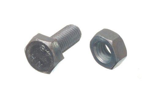 HEX BOLT SET SCREW 8.8 GRADE STEEL M10 X 25MM + NUTS BZP ( pack 10 ) onestopdiy.com