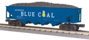 Trains Mth Blue - MTH Electric Trains O-27 Hopper w/Operating Load, Anthracite Blue Coal