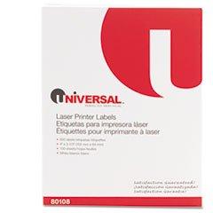 6 Pack Value Bundle) UNV80108 Laser Printer Permanent Labels ...