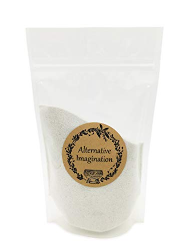 (Alternative Imagination 1 Pound of White, Fine Colored Sand for Incense Burners, Crafts, Sand Gardens, Unity Sand, Decoration, and More)