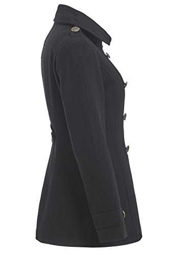 8 SS7 to Black Sizes Coat Wool 16 Black Women's Blend wrzaSYw