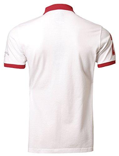 Kensington Herren Polo Shirt Kurzarm Kragen Sommer rot Gr. XL