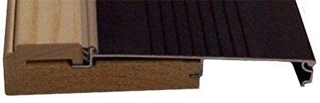 Exterior Inswing Threshold - Hardwood Cap-5 5 /8'' Wide x 72'' Length- in DARK BRONZE
