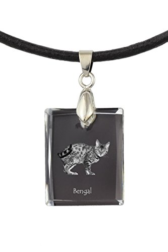 Art Dog Ltd. Bengal, Cat Crystal Necklace, Pendant, Exceptional Gift, Collection