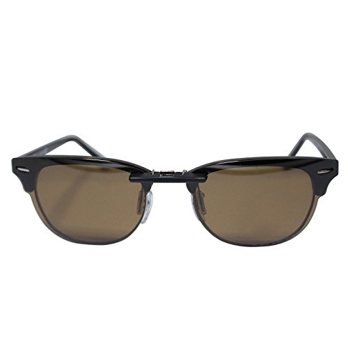 Custom Polarized Clip on Sunglasses For Ray-Ban CLUBMASTER RB5154 RX5154 - Rb5154 Clubmaster