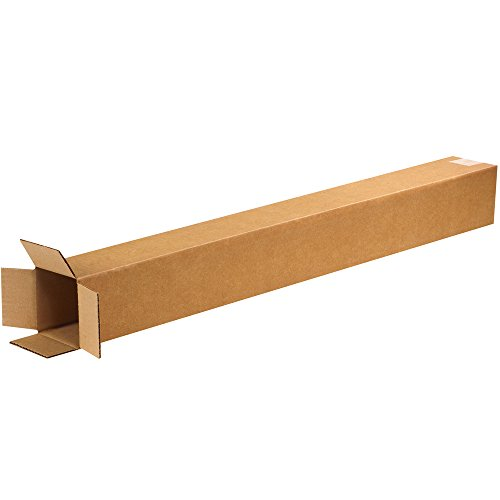 "Aviditi 5536 Corrugated Boxes, Tall 5"" x 5"" x 36"", Kraft (Pack of 25) from Aviditi"
