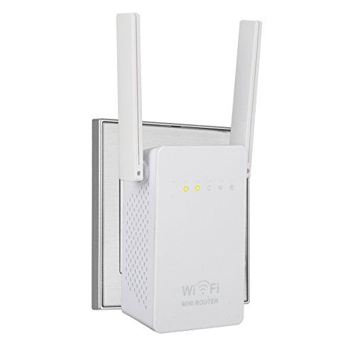 WiFi Extender, SERMICLE Wireless WIFI Booster Wi-Fi Range Extender Antenna Wifi AP/Repeater with Long Range Extender 180°Rotation Antenna WPS 300Mbps (300Mbps WAN/LAN) by Sermicle