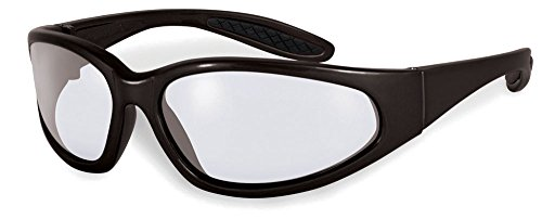 Specialized Safety Products Naches BLK CL/AF Unisex Safety Glasses with Clear Anti-Fog Lenses & Frames for Round & Narrow Faces, - Faces Narrow For Frames