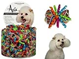 Aria CELEBRATION BARRETTE BARRETTES DOG BOWS (10 PACK)