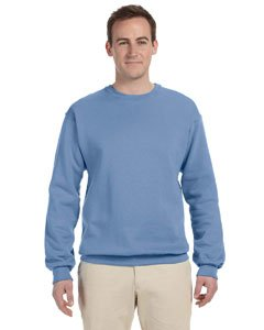 JERZEES - Crewneck Sweatshirt. 562M, MEDIUM, Light Blue