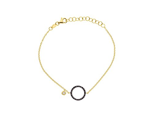 & You - Bracelet Chaîne - Or Jaune 18 cts - Vendôme - Diamant 0.2 cts - 18 cm - AM- BRAC CIRC 020 J