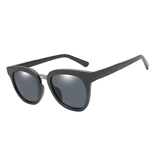 Pesca se UV Conducir de 1x Duradero de Gafas Sol Cómodo Senderismo Lectura Amarillo Hombres 400 Madera Viaje Gris Describe Homyl como dqOUYW7Y