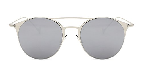 - TIJN Men Women Timeless Metal Top Bar Round Sunglasses