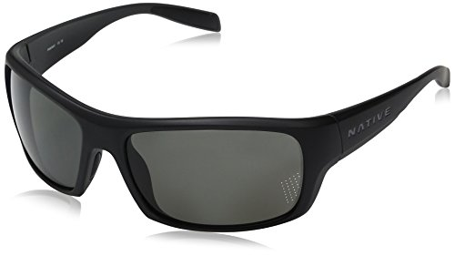 Native Eyewear Eddyline Sunglass, Matte Black/Granite, Gray Lens -