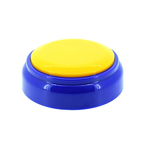- Recorder Button 30 Second, Recordable Talking Button with Good Sound Quality, Record Sound Button for Gift Toys Education (Yellow+Blue)