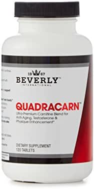 Quadracarn 120 Tablets. 4X-Potency Multi-Carnitine Formula for fat loss, muscle definition, vascularity, testosterone, sexual health, mood, energy, anti-aging.