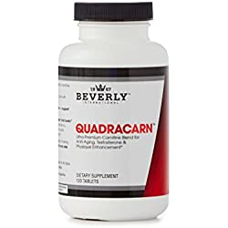 Beverly International Quadracarn 120 Tablets. Exclusive 4X-Potency Multi-Carnitine Formula. Enhance Testosterone – Cognitive Performance – Fat Loss -Muscle Definition – Vascularity – Vitality