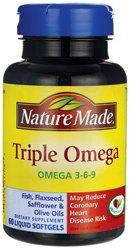 Nature Made Triple Omega, Softgels 60 ea