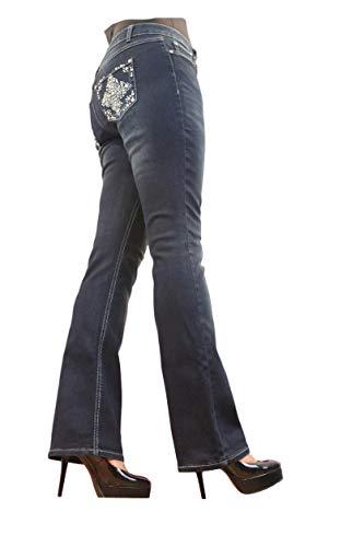 Project Indigo Women Plus Embroidery Back Pocket Boot Cut PJP161 (20W) Blue