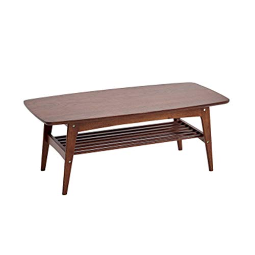 Coffee Tablesv Table Balcony Bay Window Courtyard Long Tea Coffee Stool Storage Storage Small Room Living Room Coffee Table Leisure Party Multi-Function (Color : Brown, Size : 1055045cm)