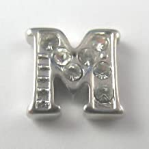 Letter M floating charms, M locket charms,alphabet M charms,grapheme charms