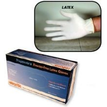 Disposable Powder Free Latex Glove Large, 10 Case -- 100 Count