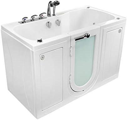 Ella O2SA3060H Tub4Two Acrylic Whirlpool Massage Door Walk-in Bathtub, 31 x 60 , White