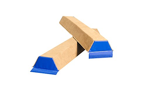Tumbl Trak 4ft Sectional Gymnastics Training Floor Balance Beam (2 Pack), colors may vary
