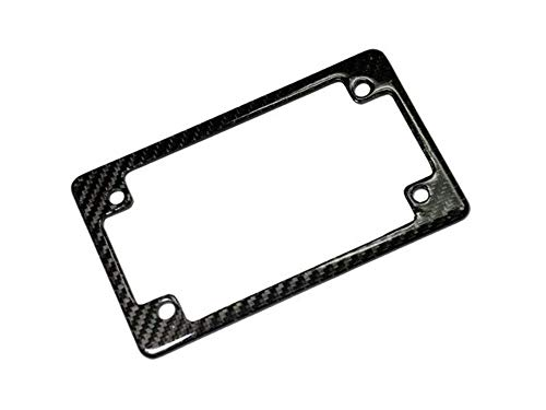 AutoTecknic Real Carbon Fiber Motorcycle License Plate Frame (US Only)