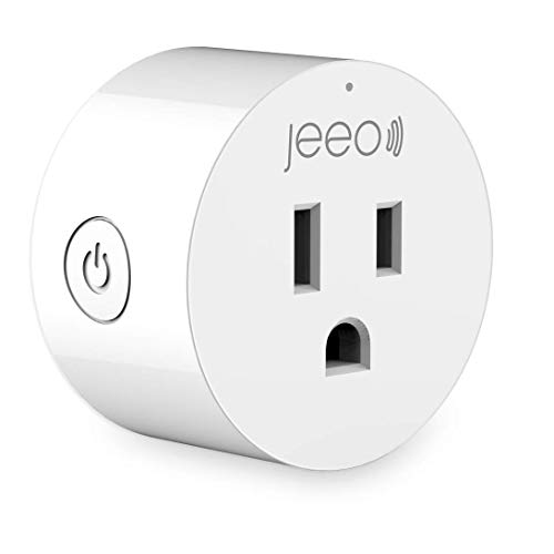 Jeeo Mini Smart Plug WiFi Outlet Works with Timer Amazon Alexa Google Assistant IFTTT, No Hub Required, FCC ETL RoHS Certified, Voice Remote Control Socket White (TF-SH330/One)