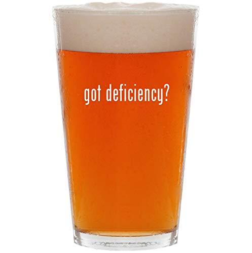 got deficiency? - 16oz Pint Beer Glass