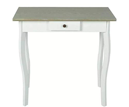 Console Table MDF White and Grayish Brown Stylish Excellent Elegant Space MDF 29'' x 14'' x 29'' SKB Family