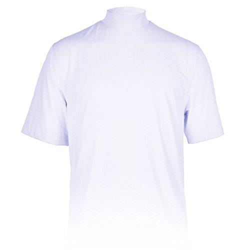 Monterey Club Mens Dry Swing X-Cool Oval Texture Mock Neck Shirt #3298 (White, Large) Dri Fit Mock Neck Shirt