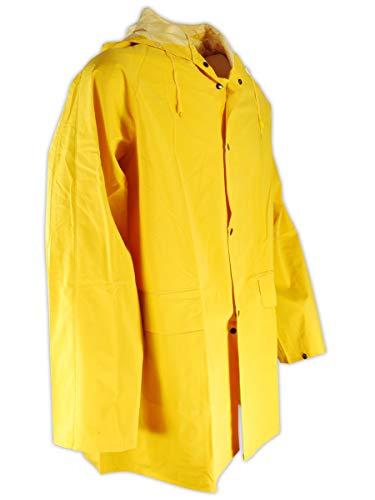 Magid RainMaster PVC Supported 14 MIL. Rain Jacket with Hood (1 Jacket), XXXXXL, YELLOW