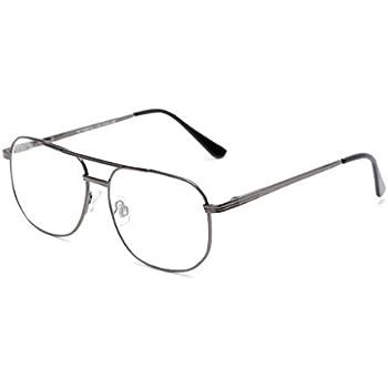 c08feea4ff Amazon.com  Clear Lens Glasses + Bifocal Reading Lens Vintage Square ...