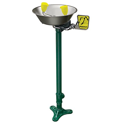 Speakman SE-584 Traditional Series Pedestal-Mounted Emergency Eyewash, Stainless Steel