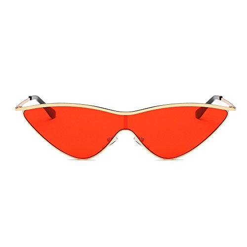 Rumas Classic Cat Eye Shades Sunglasses with Nose Pads, UV Protection Acetate Frame Eyewear, Sunglasses for Aviator Wayfarer Travel (D)