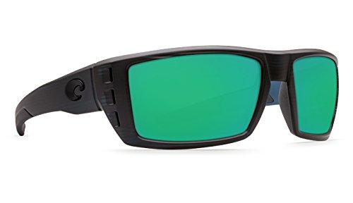 Costa Del Mar Rafael Sunglasses  Black Teak  Green Mirror 580 Plastic Lens