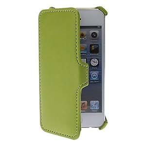 Cuero de la PU caso de cuerpo completo color s¨®lido con soporte para el iphone 5/5s (verde)