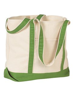 Hyp HY801 16 oz Beach Tote Bag - Natural/Clover - OS ()