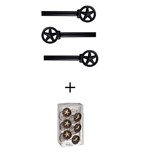 """Better Homes & Gardens* Set of 3 Curtain Rod 48""""-84"""" Steel and Resin Construction from Better Homes & Gardens*"""