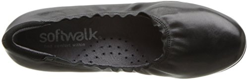 Black M Wish US 11 Softwalk Flat Black Women's nvCgZtx1