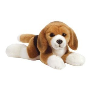 (Webkinz Signature Deluxe Plush Figure Lying Beagle + Free 12-Pack Of Tye Dyed Animal Kids Silly Bands & Carabina To Carry Your Bandz!!!)
