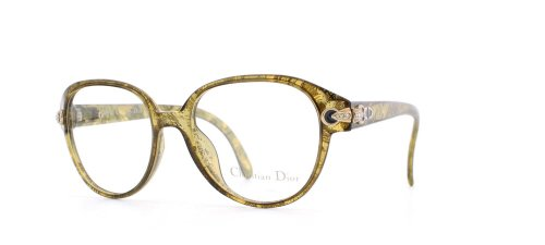Christian Dior 2471 20 Green Authentic Women Vintage Eyeglasses - 2014 Dior Frames Glasses