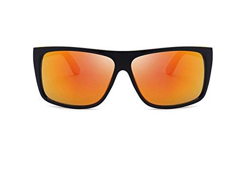 UV400 Lunettes GOFIVE Soleil Lentille Lunettes de de Homme PC Soleil Orange xSwwqRpd0